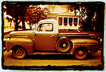 An old American pickup truck