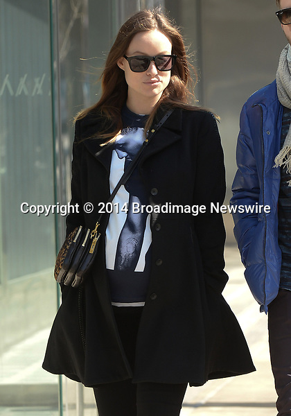 Pictured: Olivia Wilde<br /> Mandatory Credit &copy; Jayme Oak/Broadimage<br /> Olivia Wilde looks radiant while make-up free on an invigorating stroll in New York City<br /> <br /> 3/8/14, New York, New York, United States of America<br /> Reference: 030814_JKNY_BDG_007<br /> <br /> Broadimage Newswire<br /> Los Angeles 1+  (310) 301-1027<br /> New York      1+  (646) 827-9134<br /> sales@broadimage.com<br /> http://www.broadimage.com