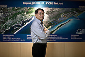Gee-Woong Sung, Executive Director, POSCO-India poses for a portrait in his office in Bhubneshwar, Orissa, India.