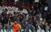 International friendly football match Italy vs The Netherlands, Allianz Stadium, Turin, Italy, June 4, 2018. <br /> Netherlands' Nathan Aké (c) celebrates after scoring during the international friendly football match between Italy and The Netherlands at the Allianz Stadium in Turin on June 4, 2018.<br /> UPDATE IMAGES PRESS/Isabella Bonotto