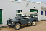 Spain, Canary Islands, Archipielago Chinijo, Isla Graciosa, Caleta del Sebo. Land Rover Santana Series III 109 6-cyl Hard Top. --- No releases available. Automotive trademarks are the property of the trademark holder, authorization may be needed for some uses.
