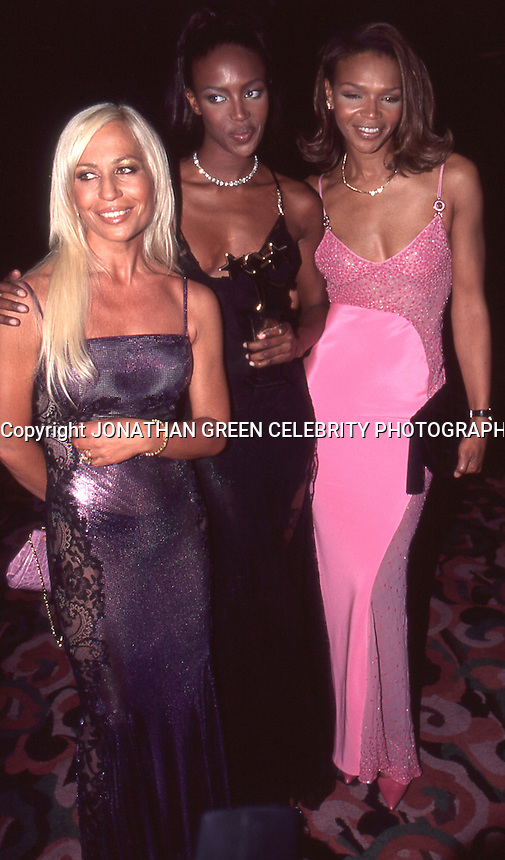 Donatella Versace Naomi Campbell &<br /> Mother Valerie Campbell 1996 by<br /> Jonathan Green