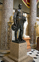Statue of Confederate General Joseph &quot;Fighting Joe&quot; Wheeler that is part of the National Statuary Hall Collection in the United States Capitol in Washington, DC on Thursday, August 31, 2017.   The statue of General Wheeler was given to the Collection by the State of Alabama in 1925. The collection is comprised of 100 statues, two from each state.  Of those, twelve depict Confederate leaders. <br /> Credit: Ron Sachs / CNP /MediaPunch