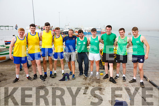 Minor Boys Crews left Callinafercy in first and Cromane in Second pictured l-r; Aaron Houlihan, Cian O'Sullivan, Pádraic O'Sullivan, Killian Kerins, John Joe O'Sullivan(Cox), Patrick O'Sullivan(Cox), Ethan Griffin, Alex King, Daire O'Sullivan & Patrick Scannell.
