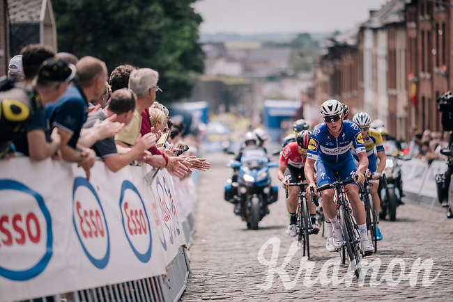eventual new champion Yves Lampaert (BEL/Quick Step Floors) underway to victory<br /> <br /> Belgian National Championships 2018 (road) in Binche (224km)<br /> ©kramon