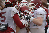 NWA Democrat-Gazette/ANDY SHUPE<br /> Arkansas Saturday, March 10, 2018, during practice at the university practice field in Fayetteville. Visit nwadg.com/photos to see more photos from practice.
