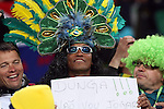 "15 JUN 2010:  Brazil fan in the stands with a ""Dunga"" sign.  The Brazil National Team played the North Korea National Team at Ellis Park Stadium in Johannesburg, South Africa in a 2010 FIFA World Cup Group G match."