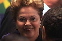 BRASÍLIA. DF 16 DE MARÇO 20123. POSSE DE 3 NOVOS MINISTROS DA REPÚBLICA. A presidenta Dilma Rousseff durante posse dos Ministros Antônio Andrade da Agricultura, Manoel Dias Ministério do Trabalho e Emprego e Moreira Franco para Secretaria da Aviação Civil no palacio do Planalto na manha deste sabado, 15. FOTO RONALDO BRANDÃO / BRAZIL PHOTO PRESS