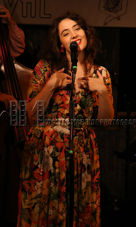 Tatiana Eva-Maria & The Avalon Jazz Band performs at the New York Hot Jazz Festival own September 30, 2018 at The McKittrick Hotel in New York City.