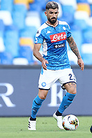 Elseid Hysaj of Napoli in action during the Serie A football match between SSC  Napoli and SPAL at stadio San Paolo in Naples ( Italy ), June 28th, 2020. Play resumes behind closed doors following the outbreak of the coronavirus disease. <br /> Photo Cesare Purini / Insidefoto