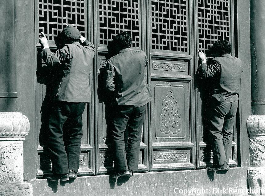 in Qufu, China 1989