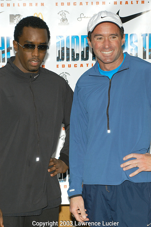 Sean Combs and Alberto Salazar