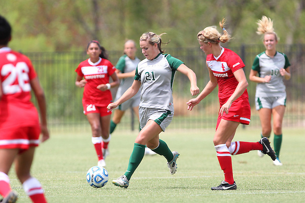 Denton, TX - AUGUST 31: Lynda Hercules #21 of the North Texas Mean Green soccer in action against University of Houston Cougars at the Mean Green Village Soccer Field on August 31, 2012 in Denton, Texas. NT won 2-1.(Photo by Rick Yeatts)
