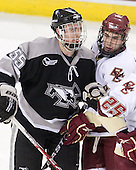 Daniel New (Providence - 55), Barry Almeida (BC - 9) - The Boston College Eagles defeated the Providence College Friars 4-1 on Tuesday, January 12, 2010, at Conte Forum in Chestnut Hill, Massachusetts.