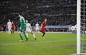 31st October 2017, Stadio Olimpico, Rome, Italy; UEFA Champions League, Roma versus Chelsea; Stephan El Shaarawy of AS Roma scores to make it 2-0
