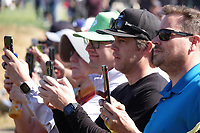 Spectators with phones during the final round of the The Genesis Invitational, Riviera Country Club, Pacific Palisades, Los Angeles, USA. 15/02/2020<br /> Picture: Golffile | Phil Inglis<br /> <br /> <br /> All photo usage must carry mandatory copyright credit (© Golffile | Phil Inglis)