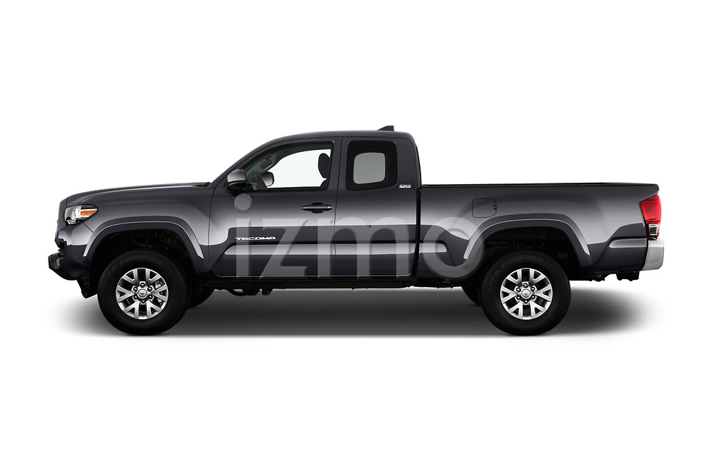 Car driver side profile view of a 2016 Toyota Tacoma SR5 Access Cab 4 Door Pick Up