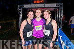 L-R Helen Brouder from Limerick (2nd place),  Laura Shaughnessy from Dublin (1st place) and Noreen Brouder from Limerick (3rd place) at the finish line of Killarney Good Friday 5 miles Run last Friday.