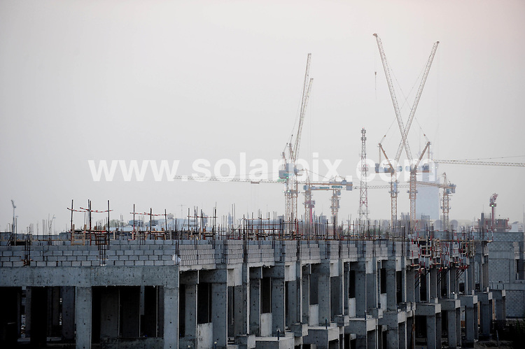 **ALL ROUND PICTURES FROM SOLARPIX.COM**.**WORLDWIDE SYNDICATION RIGHTS**.Construction work in Adu Dhabi, United Arab Emirates. 24 July 2009 ..This pic: Construction work in Adu Dhabi..JOB REF: 9677 DBL     DATE: 24_07_2009.**MUST CREDIT SOLARPIX.COM OR DOUBLE FEE WILL BE CHARGED**.**MUST NOTIFY SOLARPIX OF ONLINE USAGE**.**CALL US ON: +34 952 811 768 or LOW RATE FROM UK 0844 617 7637**