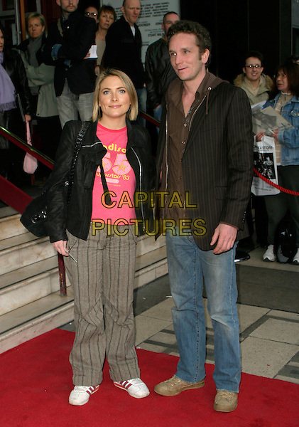 """LISA ROGERS & GUEST.Arrivals for """"Movin' Out"""" Opening Night,.Apollo Victoria Theatre, .London, England, April 10th 2006..full length.Ref: AH.www.capitalpictures.com.sales@capitalpictures.com.©Adam Houghton/Capital Pictures."""