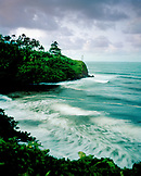 USA, Hawaii, The Big Island, Hilo, the Pacific Ocean and Honoli'i beach to the North of Hilo