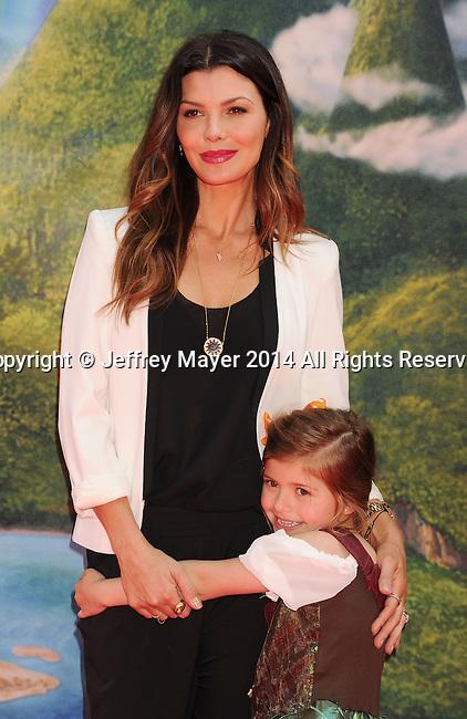 BURBANK, CA- MARCH 22: Actress Ali Landry (L) and daughter Estela Monteverde attend the premiere of DisneyToon Studios' 'The Pirate Fairy' at Walt Disney Studios on March 22, 2014 in Burbank, California.