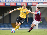 Stephen Humphrys, Southend United, gets  beyond Conor Coventry, West Ham U21's during Southend United vs West Ham United Under-21, EFL Trophy Football at Roots Hall on 8th September 2020