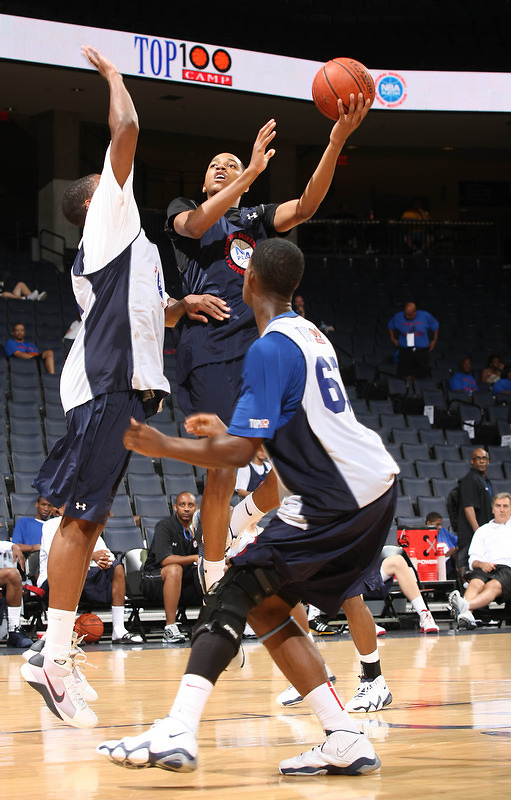 Anthony Brown handles the ball during the 2009 NBPA Top 100 Basketball Camp held Friday June 17- 20, 2009 in Charlottesville, VA. Photo/ Andrew Shurtleff