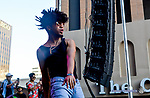 Local Artist Evander Griim fills in for Lil Uzi Vert who was unable to attend and  performs on the Franklin Mountain Stage at the 2017 Neon Desert Muisc Festival, May 27, 2017 in El Paso Texas