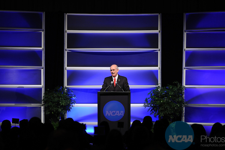 12 JAN 2012:  The NCAA Association Luncheon presented by the NCAA Office of Inclusion held during the 2012 NCAA Convention held at the JW Marriott and Indianapolis Convention Center in Indianapolis, IN.  Joshua Duplechian/NCAA Photos.Pictured: Gregory H. Williams