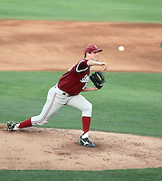 Mark Appel #26 of the Stanford Cardinal plays against the Arizona State Sun Devils on April 29, 2011 at Packard Stadium, Arizona State University, in Tempe, Arizona. .Photo by:  Bill Mitchell/Four Seam Images.