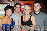 Pictured at the New Years Eve party in Scruffys bar, Killarney, were Mary Teresa O'Callaghan, Christopher Fleming, Mairead Buckley and Timmy McCarthy.