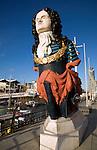 Ship's figurehead, Gunwharf Quays, Portsmouth, Hampshire, England