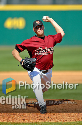 7 March 2007: Houston Astros pitcher Troy Patton on the mound against the Washington Nationals at Osceola County Stadium in Kissimmee, Florida.<br /> <br /> Mandatory Photo Credit: Ed Wolfstein Photo