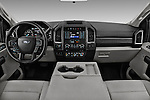 Stock photo of straight dashboard view of 2017 Ford F-350 XLT-Super 4 Door Pick-up Dashboard