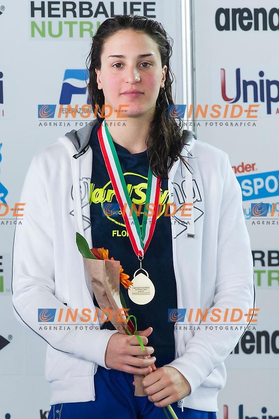 TONI Carlotta<br /> 400m misti donne<br /> Campionati Italiani Assoluti Nuoto Invernali Open Fin<br /> Riccione Italy 19/12/2015<br /> Photo Giorgio Perottino/Deepbluemedia/Insidefoto