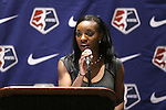 17 January 2014: Crystal Dunn was selected with the first overall pick by the Washington Spirit. The 2014 National Women's Soccer League Draft was held at the NSCAA Annual Convention in the Pennsylvania Convention Center in Philadelphia, Pennsylvania.
