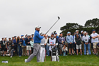 J.B. Holmes (USA) watches his tee shot on 9 during round 1 of the 2019 US Open, Pebble Beach Golf Links, Monterrey, California, USA. 6/13/2019.<br /> Picture: Golffile | Ken Murray<br /> <br /> All photo usage must carry mandatory copyright credit (© Golffile | Ken Murray)