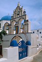 Kirche in Potamos auf der Insel Thirasia bei Santorin (Santorini), Griechenland, Europa