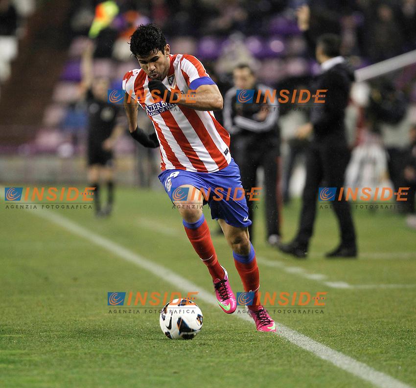 Diego Costa during Real Valladolid V Atletico de Madrid match of La Liga 2012/13. 17/02/2012. Victor Blanco/Alterphotos .Football Calcio 2012/2013.La Liga Spagna.Foto Alterphotos / Insidefoto .ITALY ONLY