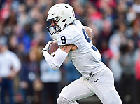 College Park, MD - NOV 11, 2017: Penn State Nittany Lions quarterback Trace McSorley (9) runs the ball during game between Maryland and Penn State at Capital One Field at Maryland Stadium in College Park, MD. (Photo by Phil Peters/Media Images International)