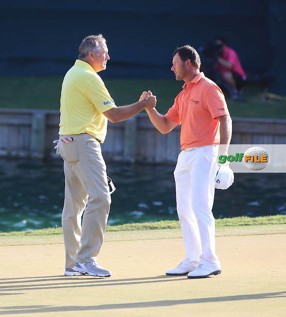Alex Cejka  (GER) and Ken Duke (USA)  during the Final round of The Players 2016 , TPC Sawgrass, Ponte Vedra Beach, Jacksonville.   Florida, USA. 15/05/2016.<br /> Picture: Golffile | Mark Davison<br /> <br /> <br /> All photo usage must carry mandatory copyright credit (&copy; Golffile | Mark Davison)