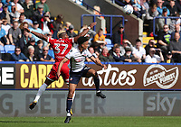 Bolton Wanderers' Antonee Robinson is tackled by Middlesbrough's Adama Traore <br /> <br /> Photographer Rachel Holborn/CameraSport<br /> <br /> The EFL Sky Bet Championship - Bolton Wanderers v Middlesbrough - Saturday 9th September 2017 - Macron Stadium - Bolton<br /> <br /> World Copyright &copy; 2017 CameraSport. All rights reserved. 43 Linden Ave. Countesthorpe. Leicester. England. LE8 5PG - Tel: +44 (0) 116 277 4147 - admin@camerasport.com - www.camerasport.com