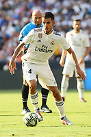 Landover, MD - August 4, 2018: Real Madrid midfielder Dani Ceballos (24) passes the ball during the match between Juventus and Real Madrid at FedEx Field in Landover, MD.   (Photo by Elliott Brown/Media Images International)