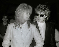 Rod Stewart and Kelly Emberg 1982<br /> Photo By John Barrett/PHOTOlink