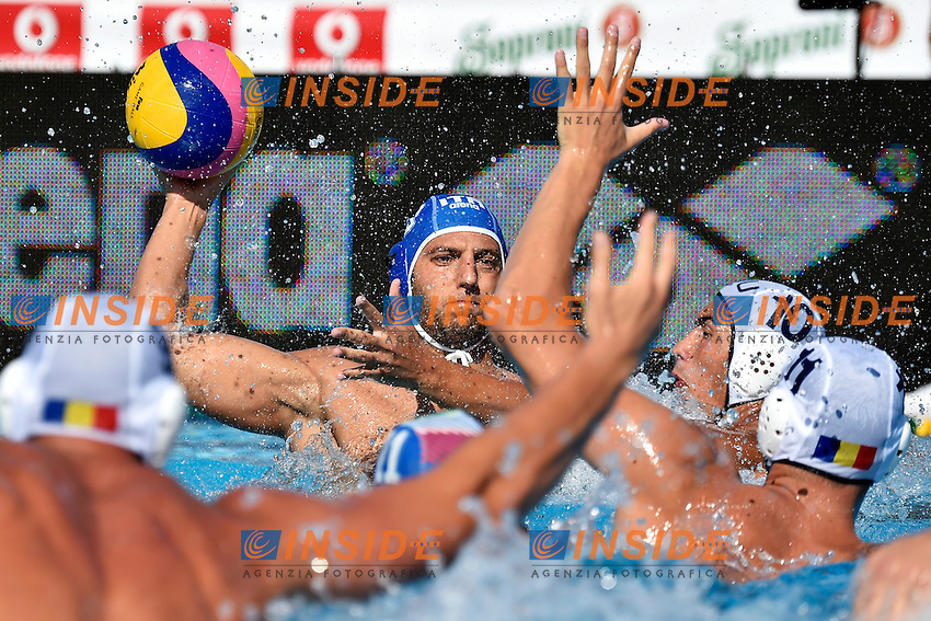 LUONGO Alessandro Italia <br /> Romania - Italy / Romania - Italia <br /> LEN European Water Polo Championships 2014<br /> Alfred Hajos -Tamas Szechy Swimming Complex<br /> Margitsziget - Margaret Island<br /> Day02 - July 15 <br /> Photo A.Staccioli/Insidefoto/
