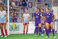 Orlando, FL - Saturday August 05, 2017: Ali Krieger, Maddy Evans during a regular season National Women's Soccer League (NWSL) match between the Orlando Pride and the Chicago Red Stars at Orlando City Stadium.