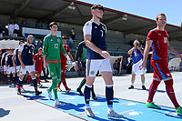 Oliver Burke leads out the Scotland team during Czech Republic Under-20 vs Scotland Under-20, Toulon Tournament Football at Stade de Lattre-de-Tassigny on 10th June 2017