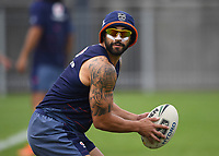 Shaun Johnson.<br /> Vodafone Warriors training session. NRL Rugby League. Mt Smart Stadium, Auckland, New Zealand. Thursday 8 February 2018 &copy; Copyright Photo: Andrew Cornaga / www.photosport.nz