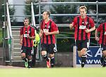 St Johnstone v FC Spartak Trnava...31.07.14  Europa League 3rd Round Qualifier<br /> Ivan Schranz celebrates his second goal<br /> Picture by Graeme Hart.<br /> Copyright Perthshire Picture Agency<br /> Tel: 01738 623350  Mobile: 07990 594431